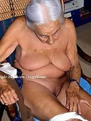 Big grannys boobs and old granny masturbate